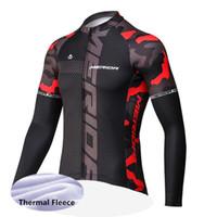 merida giysileri toptan satış-Yeni MERIDA Bisiklet Kış Termal Polar Giysi Erkekler Sıcak Jersey Yarış Giyim Bisiklet Bisiklet Maillot Ropa Ciclismo 122103Y Giymek