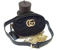kadife çantalar toptan satış-Yeni Lüks Çanta Kadın Çanta Tasarımcısı Kadife Bel Çantası Fanny Paketleri lady Kemer Çanta kadın Ünlü Marka Göğüs Çanta