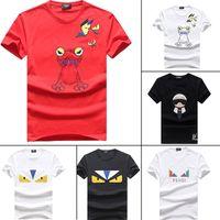 camiseta de desgaste fresco al por mayor-Nuevo verano camiseta corta para hombre diseñador de la marca famosa para hombre T camiseta top calidad de algodón de moda de los hombres de moda desgaste fresco camiseta 1C
