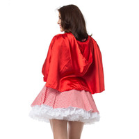 Wholesale women costume sexy xxxl for sale - costume for women Sexy Cosplay Little Red Riding Hood Fantasy Uniforms Halloween Costumes For Women Fancy Dress Plus size S XL
