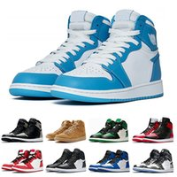 lowest price b332f d3dd5 1s Herren Basketball-Schuhe top Pine Green Court Lila Chicago OG 1 Spiel  Royal Blue Backboard Sport Sneaker Designer Trainer Größe 5,5-13