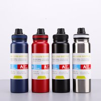 Wholesale hot cup insulated resale online - Stainless Steel Insulated Tumblers High Capacity Water Bottle Carrying Rope Motion Vacuum Cup Boy Girl Student Kettle Hot Sale tjE1