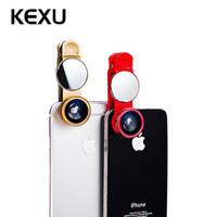 iphone telefon mal mal großhandel-Großhandels 180 Grad-Telefon-Objektiv + 0.67X Weitwinkel und 10mal das Makro + mit einem Spiegeluniversalclip für Telefone iPhone Samdung LG