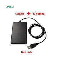 lector ic al por mayor-ID de frecuencia dual IC 125Khz 13.56Mhz USB RFID Card Reader opcional para Android Win Linux