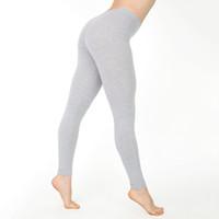 leggings de cintura baja al por mayor-Leggings sólidos ocasionales Mujeres Calientes de cintura baja Entrenamiento Leggings de poliéster Jeggings Mujer Slim Fitness Tallas grandes para mujeres