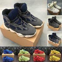 visión azul al por mayor-Para hombre de las zapatillas de deporte 500 Pizarra hueso de piedra blanca suave de la visión zapatos de diseño antiguo del papá de la vendimia de las mujeres Negro Rojo Azul zapatos de Kanye Baloncesto Botas