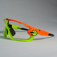 óculos de bicicleta claro venda por atacado-Clear Photochromic Ciclismo Óculos Homens Mulheres Esportes MTB Mountain Bike Bicicleta de Estrada Fotocromaticos Ciclismo Óculos De Sol Óculos # 214559