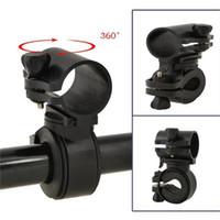 einstellbare lichtklemme großhandel-Multifunktions Einstellbare 360 Grad Drehbare Fahrradklammer Clip Fahrrad Taschenlampe LED Taschenlampe Halter fackel Halterung LJJZ53