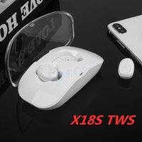 Wholesale iphone 7 headphones online – New Arrival X18S TWS Sport Wireless Headphones Bluetooth V5 Running Earphone for IOS IPhone X XR XS MAX Plus