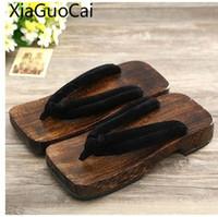 деревянные туфли для обуви оптовых-Summer Men's Sandals Light and Comfortable Wooden Male Flip Flops Raft Casual Flip-flops Slippers for Men Indoor Shoes