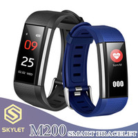 Wholesale counter boxes for sale - Group buy SKYLET Smart Bracelet M200 Fitness Tracker Wristband Smart Watch with Heart Rate Step Counter Activity Monitor Band for apple Android in Box