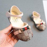 продажа плоских туфель оптовых-Розничная весна и осень Детская обувь новорожденный классический пчела плоские туфли анти-скольжения младенческая Детская обувь для девочек Бесплатная доставка