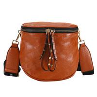 Wholesale handbag shoulder korea resale online - UKQLING Korea Fashion Brand Women s Shoulder Bags PU Leather Handbag Designer Cross Body Bags Ladies Purse with Zipper COLORS
