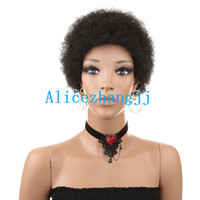 ingrosso prezzi dei capelli birmani-Parrucche capelli ricci crespi ricci crespi afro-americani per le donne nere