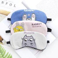 ingrosso borsa di sonno coreana-1 pz versione coreana personaggio dei cartoni animati sonno maschera per gli occhi sonno ombreggiatura traspirante uomini e donne borsa per il ghiaccio impacco caldo set da scrivania