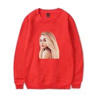 grande fashion оптовых-Frdun Ariana Grande красный цвет круглый воротник и толстовки толстовка повседневная мода печатных HighStreet женщины/мужчины weatshirt
