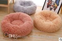 venta de almohadillas para perros al por mayor-2020 venta perro Suministros perro caliente Mats Pads felpa redonda perro mascota almohadilla caseta de perro