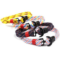 Wholesale climbing bracelet resale online - Parachute Cord Weave Bracelet Survival Escape Rope Emergency Camping Outdoor Lovers Couple Gift Multi Color yzf1