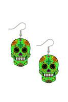 mexikanische ohrringe großhandel-Haufen Ohrringe bunt zuckerhaltig süß Calavera Schädel baumeln Ohrringe feiern mexikanischen Tag der Toten Halloween Acryl Catrina Ohrring ...