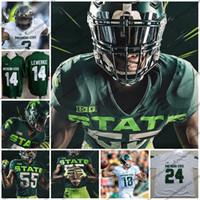 camisolas dias venda por atacado-Michigan State Spartans 2019 New Jersey Football 19 Josh Butler 6 Dia Theo 17 Tyriq Thompson 26 Brandon Bouyer-Randle MSU S-4XL