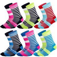 Wholesale soccer compression socks for sale - Group buy Professional New Fashion Cycling Socks Racing Bike Socks Men Women Compression Breathable Athletic Sock Football Running Basketball Socks