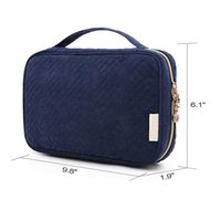 Wholesale jewellery packaging for sale - Group buy Multi Function Jewellery Bag Pure Color Jewelry Storage Wrap Female Portable Package Peach Peel Villus Zipper Multiple Pockets ycb1