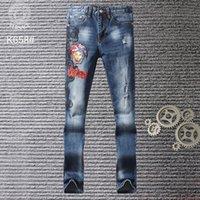 jeans blancos diseñados para hombres al por mayor-NUEVO STRYLE 19SS VERANO FAMOSO VESM2 CASUAL MARCA DISEÑADORES DISEÑO BLANCO SLIM MODA JEANS DIESEL MOTOCICLETA PANTALONES PANTALONES HOMBRE MUJER