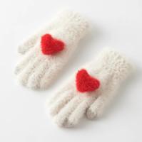 ffaa6cf0bd7 Amour écran tactile gants hiver femme version coréenne sweet ins japonais  insigne étudiant laine gants femme hiver chaud mignon