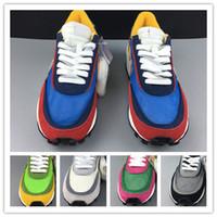 verano zapatos deportivos hombres al por mayor-2019 Nueva venta al por mayor Verano verde blanco rojo hombres zapatillas deportivas mujeres zapatillas bajas al aire libre entrenadores con caja mujeres con caja tamaño 36-46