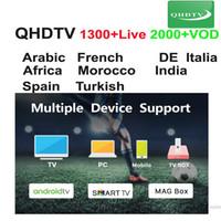 ingrosso qhd tv-3 6 12 Mesi QHDTV programma VOD dal vivo per Enigma2 M3U dispositivo Android Smart TV conto arabica QHD TV francese di 1 anno APK europea
