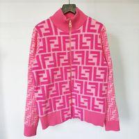 2020 neue weibliche Designer Sweater Letters Jacquard Fashion Weiseluxuxfrauen Pullover Zipper Rose Red Knithemd Tops Cardigan Jacken Größe S L