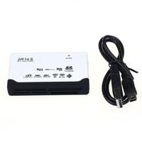 lector usb m2 al por mayor-Lector de tarjetas todo en uno TF MS M2 XD CF Lector de tarjetas SD Mini USB Lector de tarjetas de 480 Mbps Mini Lector de tarjetas de memoria con línea de fecha