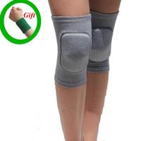 cinta de joelho do bebê venda por atacado-Esponja esportes joelheiras tenis voleibol apoio cinta de joelho Yoga musculação dança Elastic ajoelhado pad Baby Crawling Safety # 225013