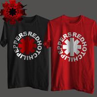 pimentão vermelho venda por atacado-Nk punk rock alternativo rock and roll red hot chili peppers camiseta homens impressão de algodão preto música rock hip hop t-shirt tee sh190703