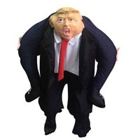 Wholesale mes clothing online - Donald Trump Pants Party Dress Up Ride On Me Costumes Carry Back Halloween Party Fun Cosplay Clothes Party Supplies CCA10821