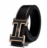 correas de cinturón para hebilla de plata. al por mayor-Moda hombre cuero genuino diseño cinturones de alta calidad de oro y plata hebilla para hombre cinturones Jeans correa de vaca para mujeres cinturón
