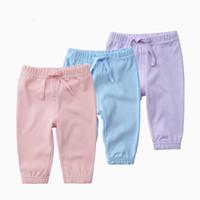 Wholesale baby clothing 18 24 months resale online - Soild Color Newborn Baby Pants Children s Cotton Pajamas Infants Leggings Boys Girls Clothing Summer Spring