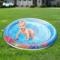 Wholesale hottest baby play mat resale online - Hot summer inflatable water sprinkle splash play mat swimming baby pad for toddlers