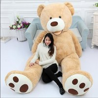 Wholesale toys price resale online - 130cm Giant Bear Hull American Bear Teddy Skin Factory Price Soft Toy Best Gifts For Girls