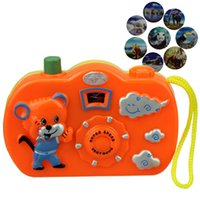 Wholesale camera world resale online - 3pc Light Projection Camera Kids Educational Toys for Children Baby Gifts Animals World Random Color No Need To Install Battery
