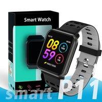 часы для розничной упаковки оптовых-2019 новейший водонепроницаемый браслет P11 смарт-часы фитнес-трекер сердечного ритма артериального давления сна PK N88 SmartWatch с розничной упаковке