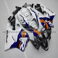 abs plástico para motocicletas venda por atacado-Presentes + Parafusos azul branco motocicleta artigo para HONDA CBR900RR 1994 1995 1996 1997 CBR893RR 94-97 ABS Carenagem De Plástico