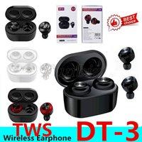 Wholesale newest lg phones resale online - Newest DT DT3 TWS Mini Bluetooth Earphone True Wireless Earbuds Stereo Waterproof Sport Earphone portable headset for all smart phone