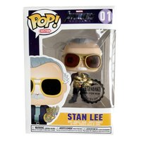 Wholesale toys for christmas diy resale online - Funko Pop Avengers Endgame Father Of Marvel Stan Lee Quake Action Figure Collection Toys For Children Christmas Gift Q190604