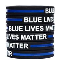 esnek bilezikler toptan satış-Mavi Hayatlar Matter Silikon Bileklik Bilezik Yumuşak Esnek No Cinsiyet Bileklik Dekorasyon Bilezikler Parti 600pcs L-OA6769 Favor