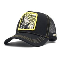 Wholesale dragon ball dhl resale online - Free DHL High Quality Dragon Ball Cap Hat Cotton Cap Hip Hop Flat Adjustable Casual Mesh Hat For adults Teens Dad Hats Trucker Snapback M1Y