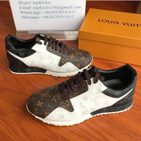 ingrosso comode scarpe da trekking-Classic RUN AWAY SNEAKERS Scarpe da uomo di design di lusso Scarpe in morbida pelle stampata Comode scarpe da trekking da trekking con lacci