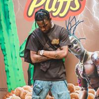 r t s toptan satış-Travis Scott x R eese 'ın P uffs Bugünün Keyfini Tee T gömlek Erkek Kadın 1a: 1 Yüksek Kalite Yaz Tarzı Travis Scott ASTROWORLD Tişört