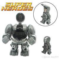 enigma do homem do ferro venda por atacado-Os Vingadores Heróis Iron-man Anti-Hulk Mech gigante DIY Modelo Kit de Puzzle Presentes Kids Brinquedos MR298