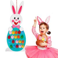 Wholesale toddler learning toys online - Match Easter Numbers Toddler Toys Wall Hanging Number Recognition Game Learning Toy DIY Easter Decorations Novelty Items CCA11219